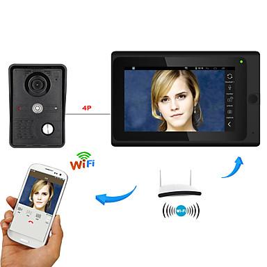 7inch Wireless/Wired Wifi IP Video Door Phone Doorbell Intercom  System with Support Remote APP unlockingRecordingSnapshot