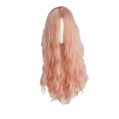 Sweet Lolita Orange Pink Long Curly Lolita Wig