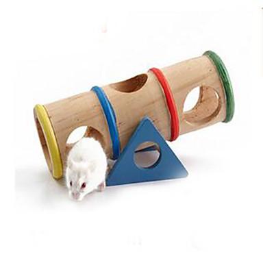 Roedores Hamster Madeira Durável Rodas de Exercícios Bege