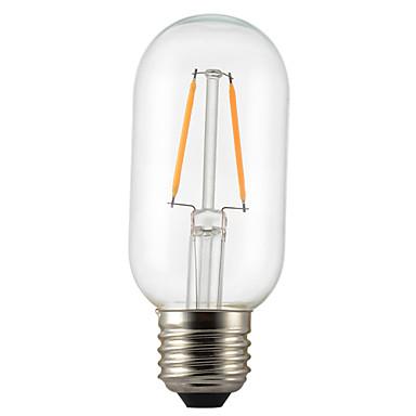 1pc 2W 140-200lm E26 / E27 LED-glødepærer P45 2 LED perler COB Dekorativ Varm hvit 220-240V