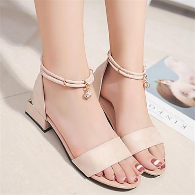 Women's Sandal Comfort Spring PU Casual Black Almond Flat