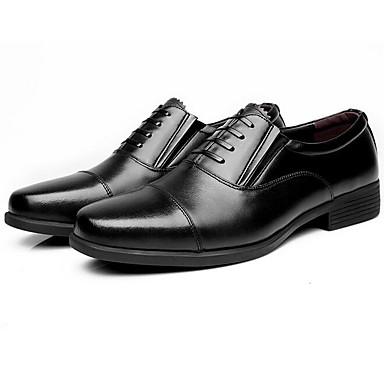 Homens sapatos Couro Primavera Outono Sapatos formais Oxfords para Escritório e Carreira Preto