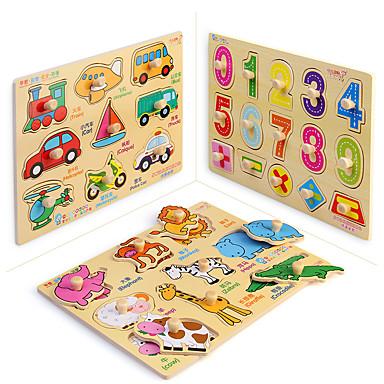 Quebra-Cabeça Brinquedos Matemáticos Brinquedo Educativo Quadrada De madeira 1-3 anos