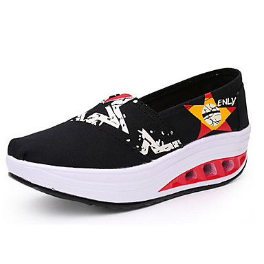 Women's Sneakers Comfort Summer Canvas Casual Black Navy Blue Ruby Light Blue 1in-1 3/4in