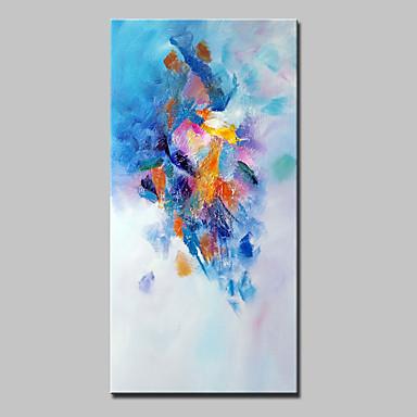 Hang festett olajfestmény Kézzel festett - Absztrakt Absztrakt Modern Anélkül, belső keret / Hengerelt vászon
