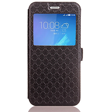 Case Kompatibilitás Huawei Honor 5C Huawei Kártyatartó Állvánnyal Flip Dombornyomott Héjtok Mértani formák Kemény PU bőr mert Honor 6X