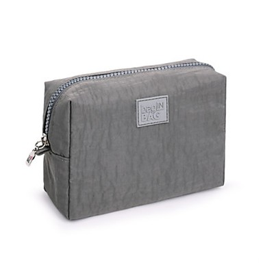 Unisex Storage Bag Nylon All Seasons Casual Baguette Zipper Black Gray Fuchsia