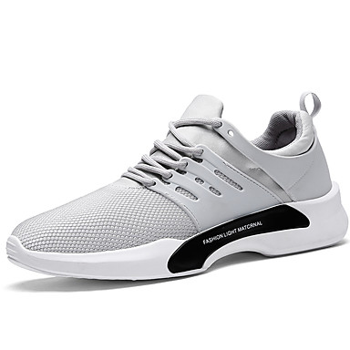Men's Shoes Tulle Spring Fall Comfort Sneakers Walking Shoes Lace-up for Casual Outdoor Party & Evening Black Gray