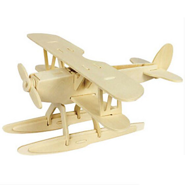 3D Puzzle Jigsaw Puzzle Wood Model Plane / Aircraft Animals DIY Wood Natural Wood Kid's Adults' Unisex Gift