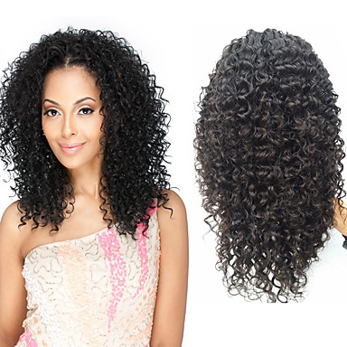 Human Hair Glueless Full Lace / Full Lace Wig Afro Wig 130% Natural Hairline / African American Wig / 100% Hand Tied Women's Medium Length / Long Human Hair Lace Wig