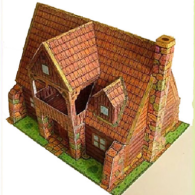 3D Puzzles Toys Square Famous buildings House Architecture 3D DIY Hard Card Paper Not Specified Pieces