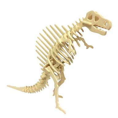 3D Puzzles Jigsaw Puzzle Wood Model Model Building Kit Dinosaur Animal 3D Simulation DIY Wood Natural Wood Classic Kid's Unisex Gift
