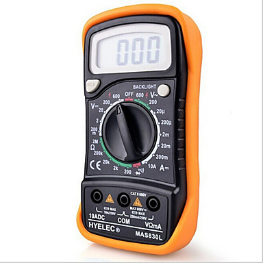 Hyelec Mas830L Mini Digital Multimeter Backlight Handheld Multifunction Multimeter #01956193