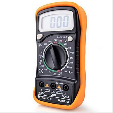 hyelec mas830l mini multimètre numérique rétro-éclairage multifonction portable multimètre