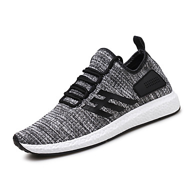 Men's Shoes Fabric Spring Summer Comfort Light Soles Sneakers For Casual Black Gray Red Blue