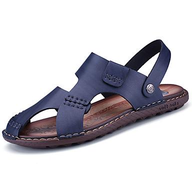 Men's PU(Polyurethane) Spring / Summer Comfort Sandals Blue / Dark Brown