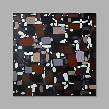 Hand-Painted Abstract Square, Artistic Canvas Oil Painting Home Decoration One Panel