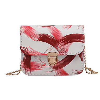 Women's Bags PU Crossbody Bag for Casual Outdoor All Seasons Blue Black Red