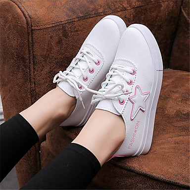 Women's Shoes PU Spring Comfort Sneakers For Casual Black Blushing Pink