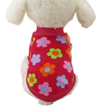Perro Abrigos Camiseta Sudadera Ropa para Perro Rayas Rojo Azul Raya Franela Disfraz Para Primavera & Otoño Invierno Hombre Mujer Casual / Diario Moda
