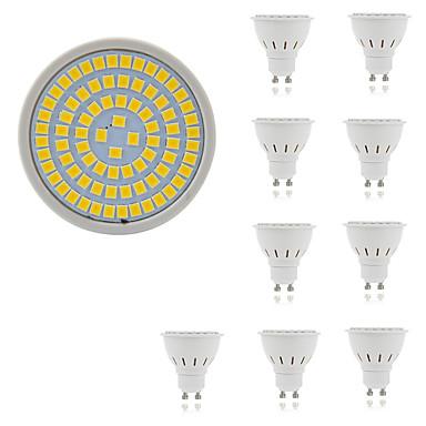 10pçs 5 W 400 lm GU10 / GU5.3 / E26 / E27 Lâmpadas de Foco de LED 80 Contas LED SMD 2835 Decorativa Branco Quente / Branco Frio 220-240 V / 10 pçs / RoHs