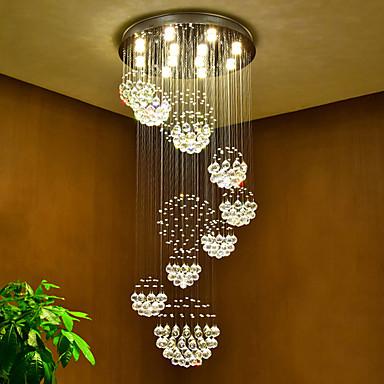Chic & Modern Chandelier Downlight - Crystal, 110-120V / 220-240V, Warm White, Bulb Included