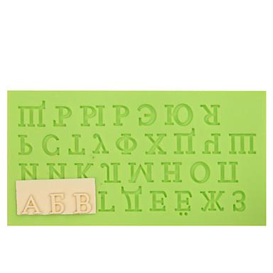 russian kirje silikoni fondant hometta suklaa fimo savi muotti väri satunnainen