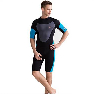 Herre Anti-UV Ultraviolet Motstandsdyktig Verneutstyr Nylon Neopren Dykkerdrakt Halvlange ermer Dykkerdrakter-Surfing Stuping Vannsport