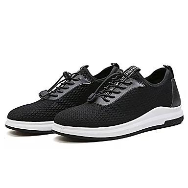 Homens sapatos Tule Primavera Outono Solados com Luzes Tênis Cadarço para Casual Preto Cinzento Azul