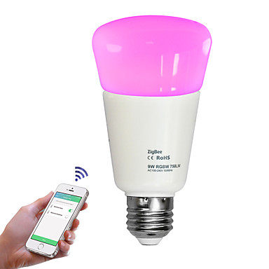 JIAWEN 1pc 9 W 750 lm E26 / E27 LED Smart Bulbs 31 LED Beads SMD 2835 APP Control / Dimmable / Remote-Controlled Warm White / Cold White / Natural White 110-240 V / 1 pc