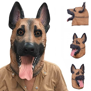 New Cool Wolf Dog Full Face Mask Halloween Gifts Eco-Friendly Nature Latex Lifelike Dog Head Mask For Cosplay Party Dress Up