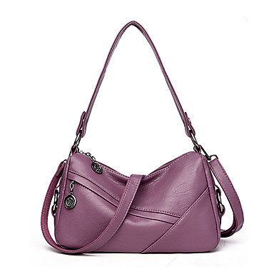 Women Bags PU Shoulder Bag for Wedding Event/Party Casual Formal Office & Career All Seasons Blue Black Red Gray Purple