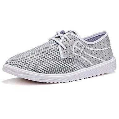 Men's Sneaker Comfort Spring Tulle Casual Black Gray Blue Flat