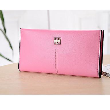 Women Money Clip PU All Seasons Casual Square Snap Black Blushing Pink