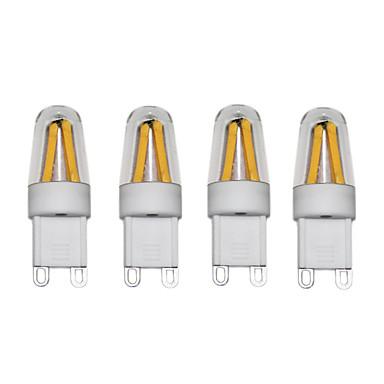 3W LED Bi-Pin lamput T 4 COB 250 lm Lämmin valkoinen Kylmä valkoinen AC220 AC230 AC240 V 4 kpl