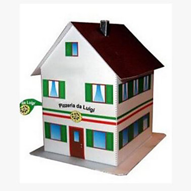 3D Puzzles Paper Model Paper Craft Model Building Kit Square House 3D DIY Hard Card Paper Classic Unisex Gift