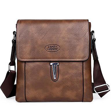 Men Bags All Seasons Cowhide Shoulder Bag for Casual Outdoor Black Gray Brown