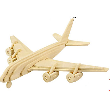 3D Puzzles Jigsaw Puzzle Metal Puzzles Wood Model Model Building Kit Plane / Aircraft 3D DIY Wood Natural Wood Classic Unisex Gift