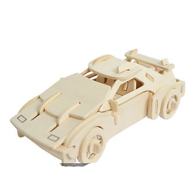 Quebra-Cabeças 3D Quebra-Cabeças de Metal Modelos de madeira Brinquedos de Montar Carro Faça Você Mesmo Madeira Natural Clássico 6 anos e