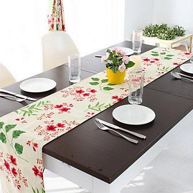 Cotton Blend Table cloths Printing Table Decorations 1 pcs