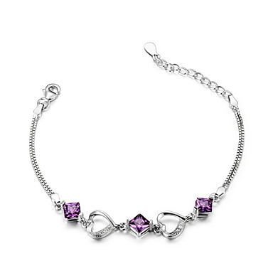 Naisten Ranneketjut Muoti Sterling-hopea Heart Shape Korut Käyttötarkoitus