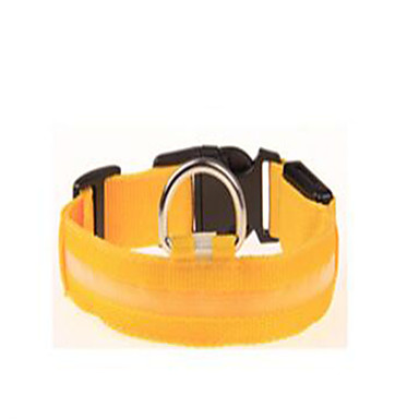 Koira Kaulapannat Koiran treenauspannat Kannettava Säädettävä Yhtenäinen Nylon Musta Keltainen