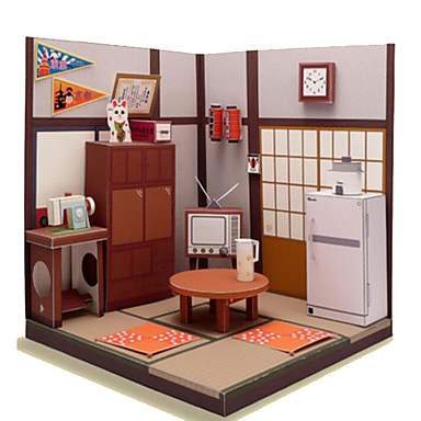 3D Puzzles Paper Craft Square House 3D DIY Hard Card Paper Unisex Gift