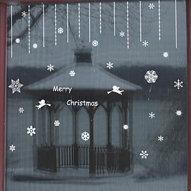 Window Film Window Decals Style Merry Christmas Angel PVC Window Film