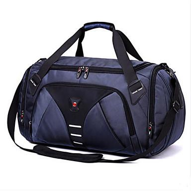 Men Travel Bag PU All Seasons Casual Outdoor Round Zipper Blue Black