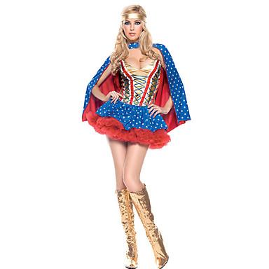 Superhelden Cosplay Kostuums Feestkostuum Vrouwelijk Halloween Festival/Feestdagen Halloweenkostuums Polkadot