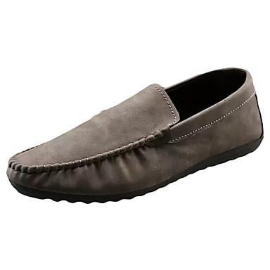 Homens sapatos Couro Ecológico Primavera Outono Conforto Mocassins e Slip-Ons Combinação para Casual Preto Café Marron