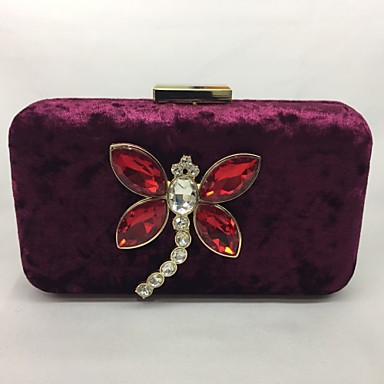 Women Bags All Seasons Metal Evening Bag for Event/Party Blue Green Black Wine