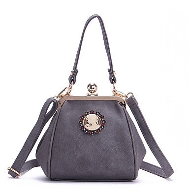 Women Bags All Seasons PU Shoulder Bag with for Casual Black Blushing Pink Gray Clover Wine