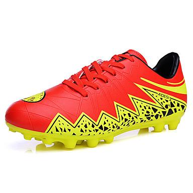 Homens sapatos Couro Ecológico Primavera Outono Solados com Luzes Conforto Tênis Futebol Cadarço para Atlético Preto Laranja Amarelo Azul